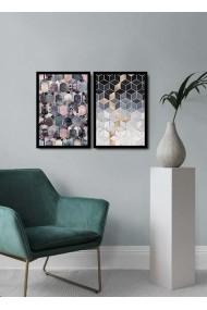 Tablou decorativ (2 bucati) Alpyros 841APY2101 multicolor