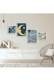 Tablou decorativ (4 bucati) Alpyros 841APY1011 multicolor