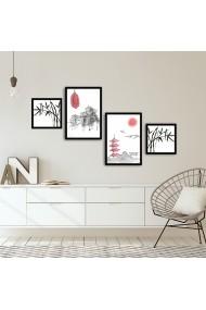 Tablou decorativ (4 bucati) Alpyros 841APY1023 multicolor