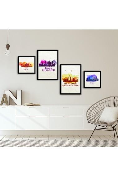 Tablou decorativ (4 bucati) Alpyros 841APY1026 multicolor