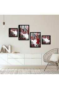 Tablou decorativ (4 bucati) Alpyros 841APY1027 multicolor