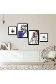 Tablou decorativ (4 bucati) Alpyros 841APY1030 multicolor