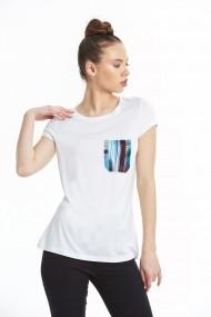Тениска Melinda ASR-578MLD1157 Бял