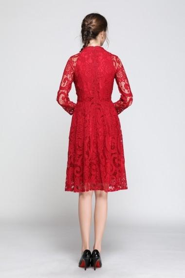 Rochie de zi Kaimilan QK365 Red Rosu - els