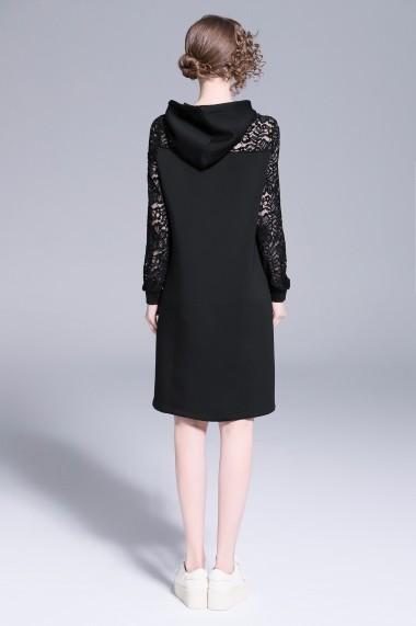 Rochie de zi Ferraga QK411 Neagra - els