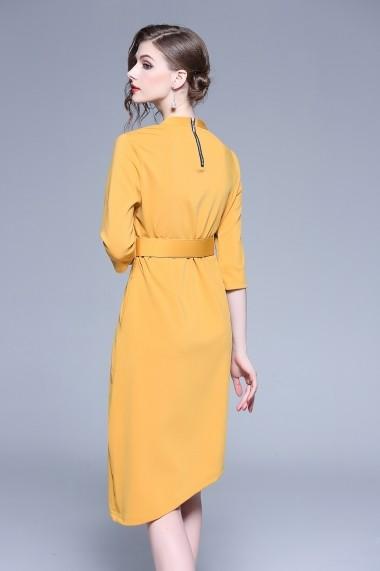 Rochie de zi Kaimilan QK407 Yellow galbena - els