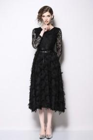 Rochie de seara Kaimilan QK426 Black neagra - els