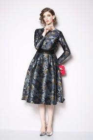 Kaimilan Estélyi ruha ATL-QK436_Blue_Golden_print_els Kék