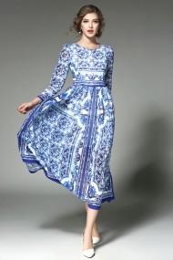 Kaimilan Estélyi ruha ATL-QA201_Blue-White_print_els Kék