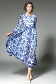 Rochie Kaimilan QA201 albastru - els