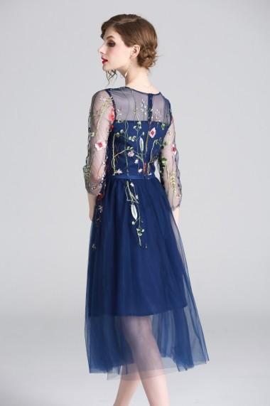 Rochie Ferraga QM204 albastru - els