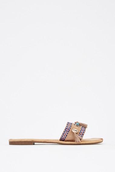 Papuci 630190-247690 Bej