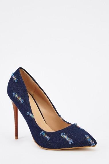 Pantofi cu toc 629736-246760 Albastru