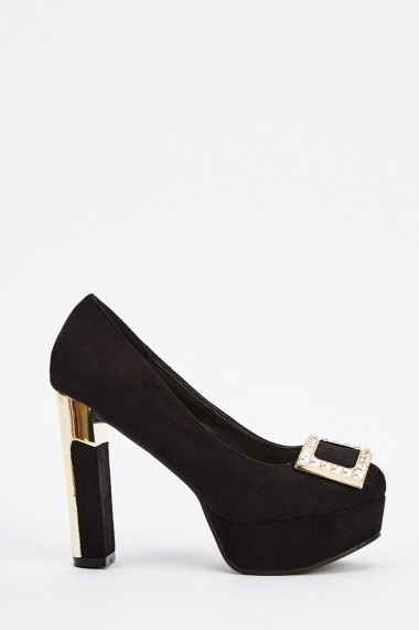 Pantofi cu toc 639159-265225 Negru