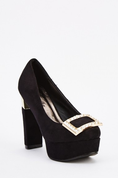Pantofi cu toc 639159-265226 Kaki