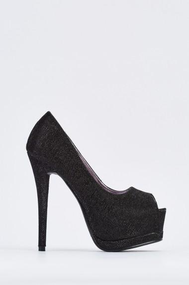 Pantofi cu toc 640045-266899 Negru - els