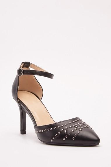 Pantofi cu toc 642857-272751 Alb