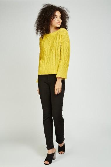 Jeansi skinny 641600-270016 Negru
