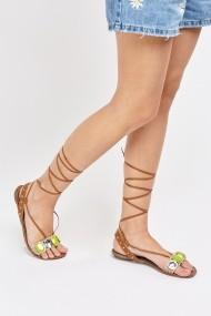 Sandale plate 630371-248019 Bej