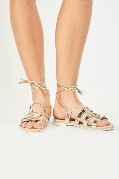 Sandale plate 639155-265221 Auriu