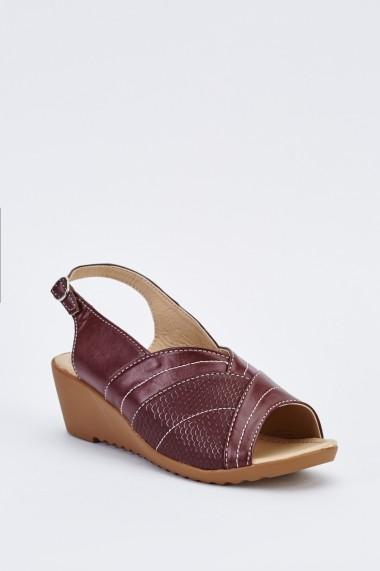 Sandale plate 639515-265909 Bordo