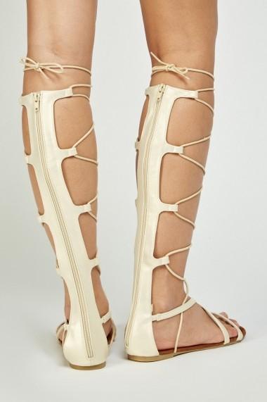 Sandale plate 641519-269845 Auriu