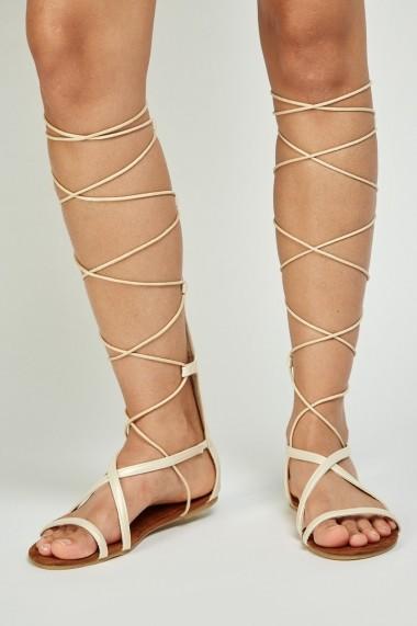 Sandale plate 641519-269845 Auriu - els