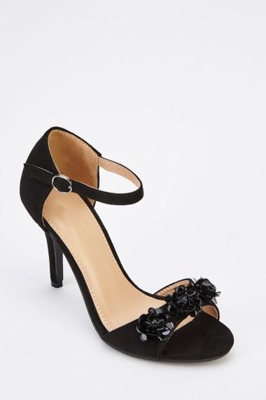 Sandale cu toc 629726-246733 Negru