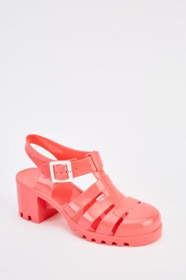 Sandale cu toc 630205-247721 Roz