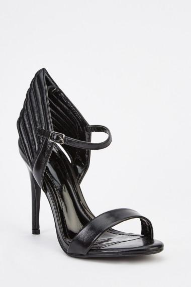 Sandale cu toc 629887-247046 Negru