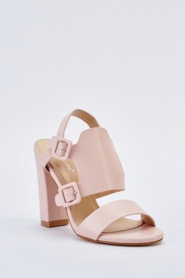 Sandale cu toc 640123-267073 Bej