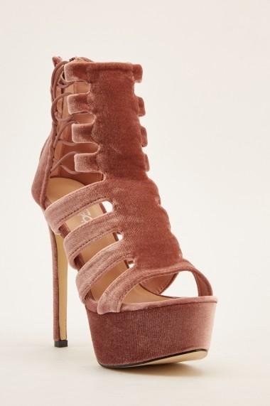 Sandale cu toc 640951-268763 Roz