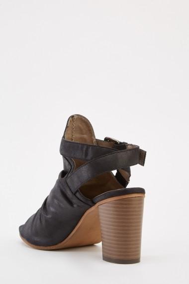 Sandale cu toc 641321-269477 Negru