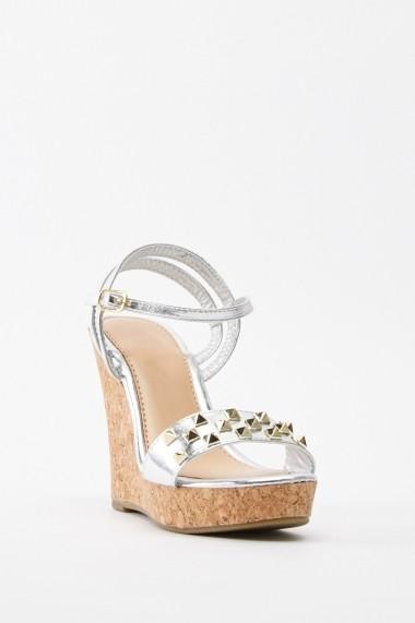 Sandale cu toc 641556-269904 Argintiu