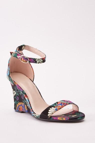 Sandale cu toc 642411-271714 Negru - els