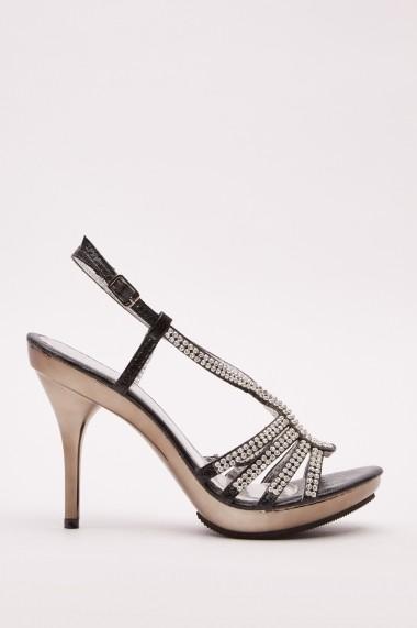 Sandale cu toc 643044-273136 Negru