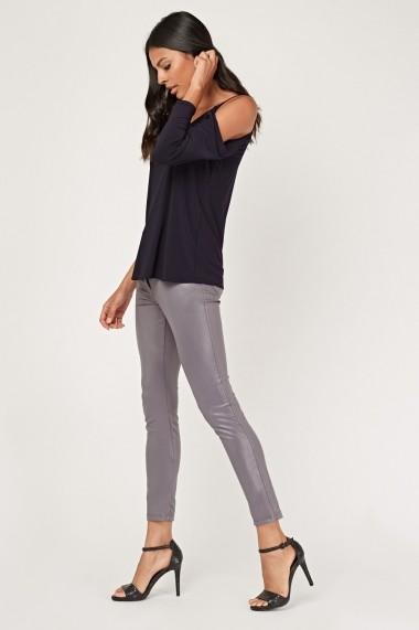 Pantaloni skinny 641676-270182 Gri