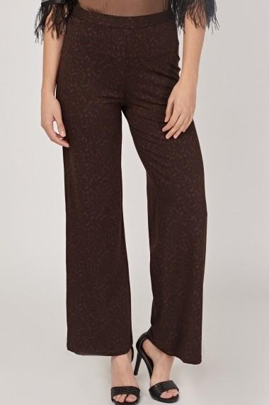 Pantaloni largi 640185-267192 Maro