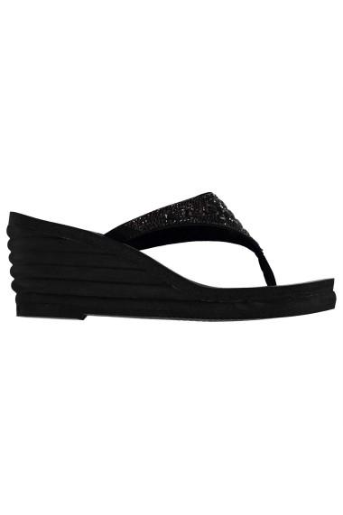 Sandale cu toc Skechers 23134103 Negru