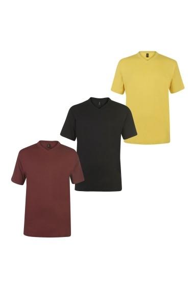 Set 3 tricouri Donnay 68902699 Multicolor