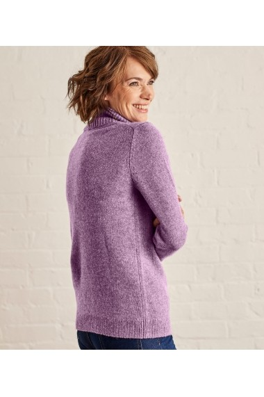 Pulover din lana Wool Overs L20LX-Lavender-Marl Mov - els
