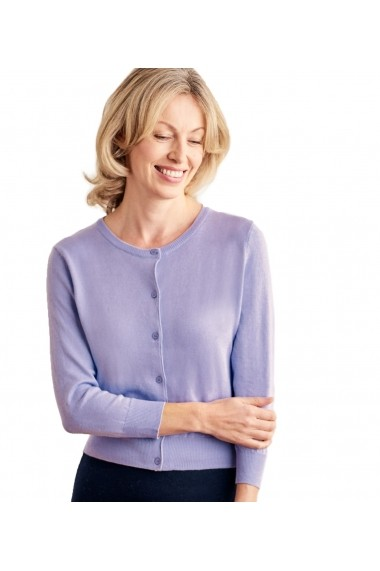 Cardigan Wool Overs S130L-Lavender Lila