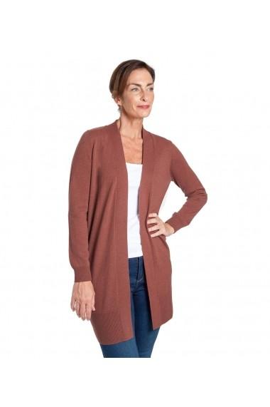 Cardigan din lana Wool Overs A73-Terracotta Caramiziu