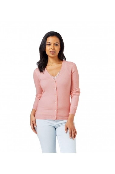 Cardigan din lana Wool Overs A60L-Pale-Pink Roz