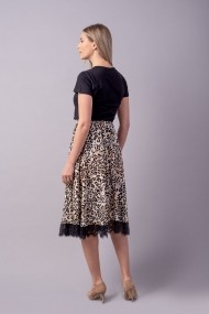 Fusta Couture de Marie 0008106 din vascoza Hana animal print