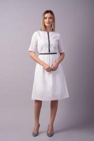 Rochie Couture de Marie 0008100 alba din bumbac Linnea