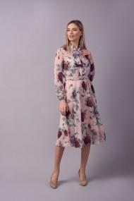 Rochie Couture de Marie 0008108 din voal roz print floral Rosalie