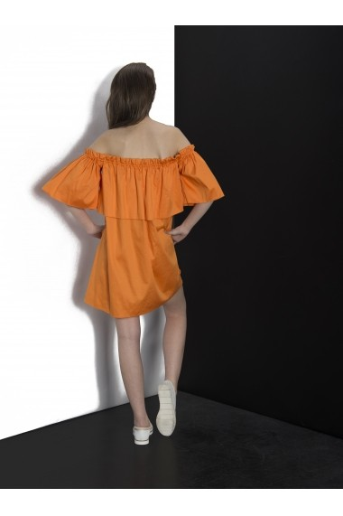 Rochie Couture de Marie French Orange