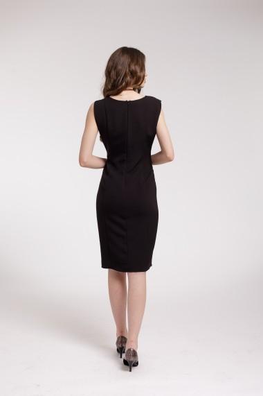 Rochie de cocktail Couture de Marie neagra cu aplicatie in talie
