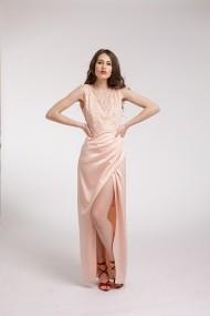 Rochie de seara Couture de Marie lunga cu aplicatii din dantela